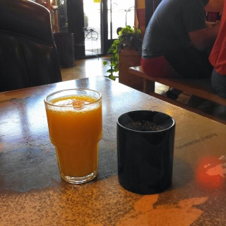 Orange juice and coffee