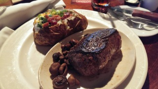 Kobe Sirloin with loaded baked potato