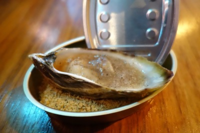 Carbonated Oyster with edible sand