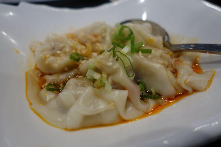 Chao Shou in Szechuan Sauce
