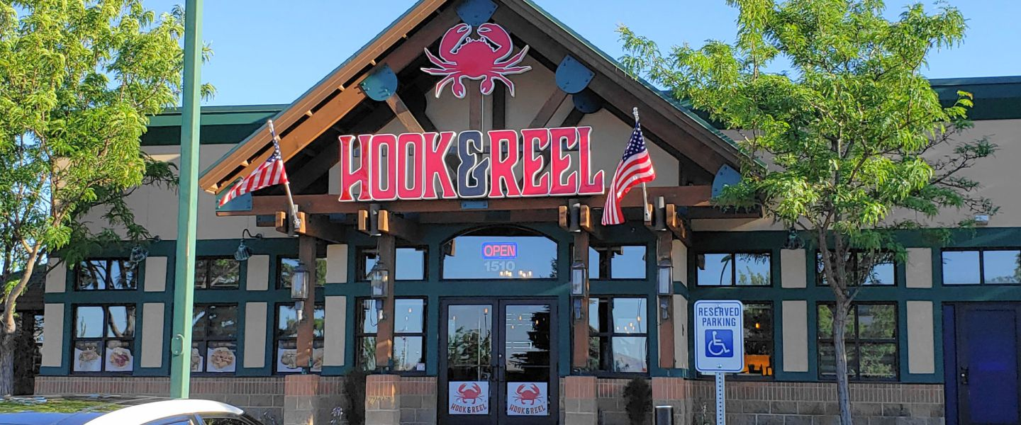 Hook & Reel front door