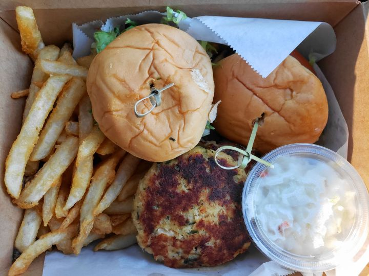 Crab Cake Basket (takeout) from Hook & Reel
