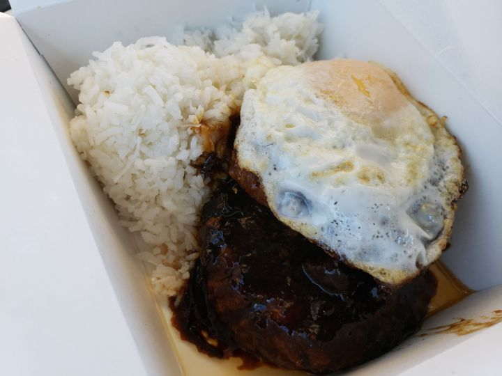 Loco Moco (takeout) from Kanak Attack Pineapple Express