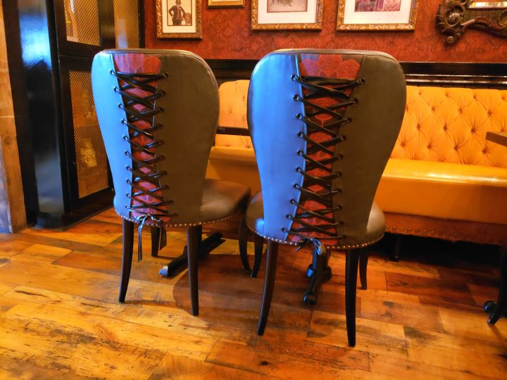 Kinky corset chairs at Diablo & Sons