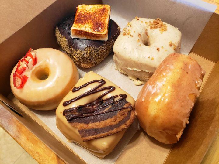 The Donut + Dog mixed doughnuts